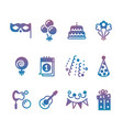 party event festive icons vector image vector image
