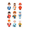 people different professions set working vector image vector image