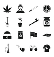 Rastafarian icons set simple style vector image vector image