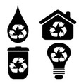 recycle symbol icons set vector image vector image