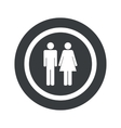 Round black man woman sign vector image vector image