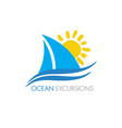 sailboat logo vector image vector image