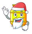 santa gas tank cylinder isolated on mascot vector image vector image