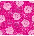 Seamless floral pattern with pink roses and dots