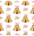 seamless indian summer floral arrows and teepee vector image vector image