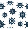 seamless pattern marine nautical captain helm vector image vector image