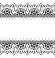 seamless pattern mehndi border elements in indian vector image vector image