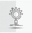 seo search optimization process setting line icon vector image vector image