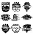 set of vintage car service labels design elements vector image vector image