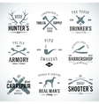Set of Vintage Labels With Retro Typography for vector image