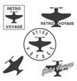 Set of vintage retro aeronautics flight badges and vector image vector image