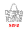 shopping retail selling poster of shop bag vector image vector image