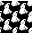 Smiling ghosts in white capes pattern vector image vector image