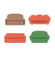 soft furniture colorful seats sofa set vector image vector image