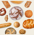 tasty bakery top view vector image