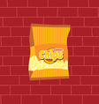 tasty potato chips snacks theme vector image
