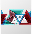 triangles and geometric shapes abstract background vector image vector image