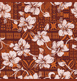 tribal vintage hawaiian hibiscus flowers wallpaper vector image vector image