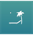 Tropical resort beach Sunbed Chair - icon isolated vector image vector image