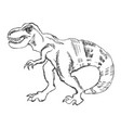 tyrannosaurus monster from past vector image vector image