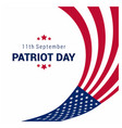 usa patriot day design with flag vector image