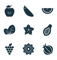 Vegetable icons set with sorrel pattionson clove