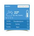 Weather Widgets 2 vector image
