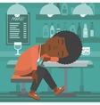 Woman sleeping in bar vector image vector image