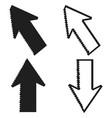 pixel cursors mouse arrow pointers vector image