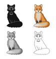red foxanimals single icon in cartoon style vector image