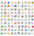100 pharmacy icons set isometric 3d style