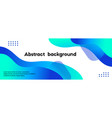 abstract long banner blue gradient liquid vector image vector image