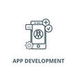 app development line icon app development vector image vector image