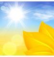 Autumn background with bright sun vector image