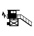 baywatch house flat icon silhuette vector image