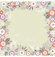 beige background with frame of color flowers vector image vector image