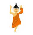 Buddha meditating isolated Indian god on white vector image vector image