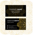business card in oriental style vector image vector image