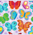 butterfly seamless background 3 vector image