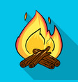 campfire icon in flat style isolated on white vector image