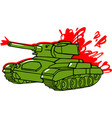 cartoon tank isolated vector image