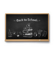 chalk drawn back to school vector image