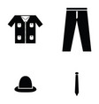 clothes icon set vector image vector image
