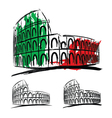 Coliseum on white background vector image