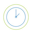 color line circle wall clock time object vector image