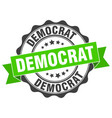 democrat stamp sign seal vector image vector image