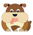 dog in cartoon flat style vector image