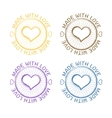 Grunge retro stamp made with love vector image vector image