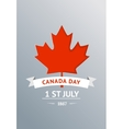 happy canada day 1st july celebration poster vector image vector image