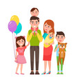 happy extended family icon vector image